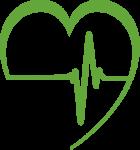 hospital icon - heartbeat inside of a heart