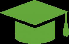school icon - graduation hat